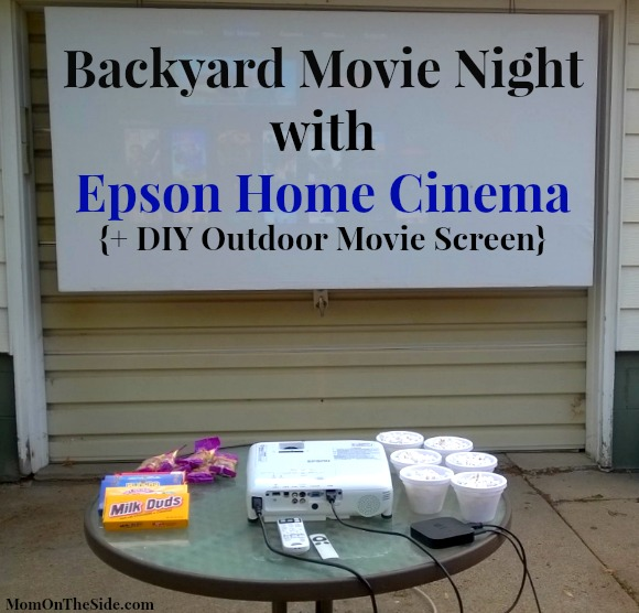 DIY outdoor movie screen tutorial