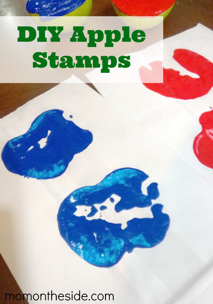 These DIY Apple Stamps are easy to make and fun for crafts! If you are looking for a Fall Kids Craft, this is it!