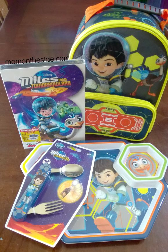 New Miles from Tomorrowland DVD + Spacetastic Dishware