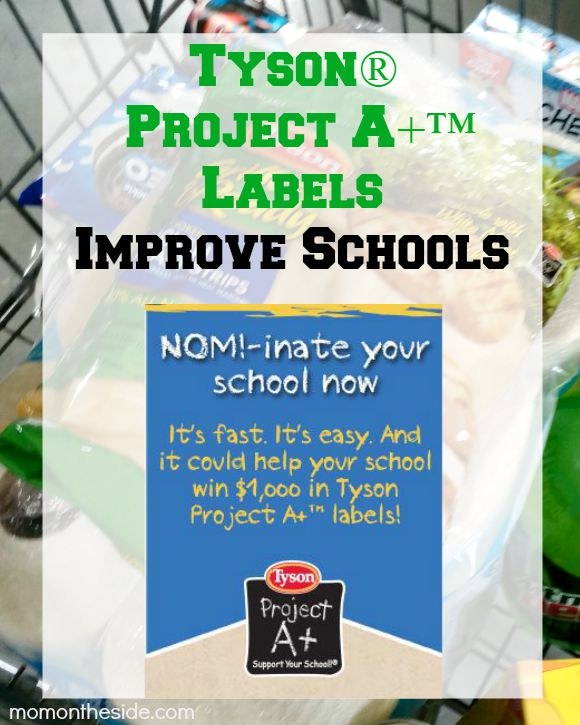 Tyson® Project A+™ Labels Improve Schools