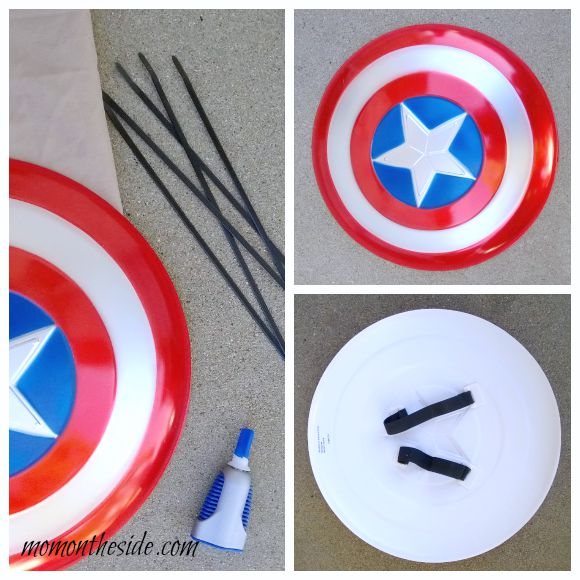 DIY Captain America Shield Halloween Candy Bag