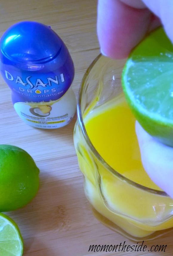 Morning Paradise Drink with New Dasani Drops {Adult Beverage}