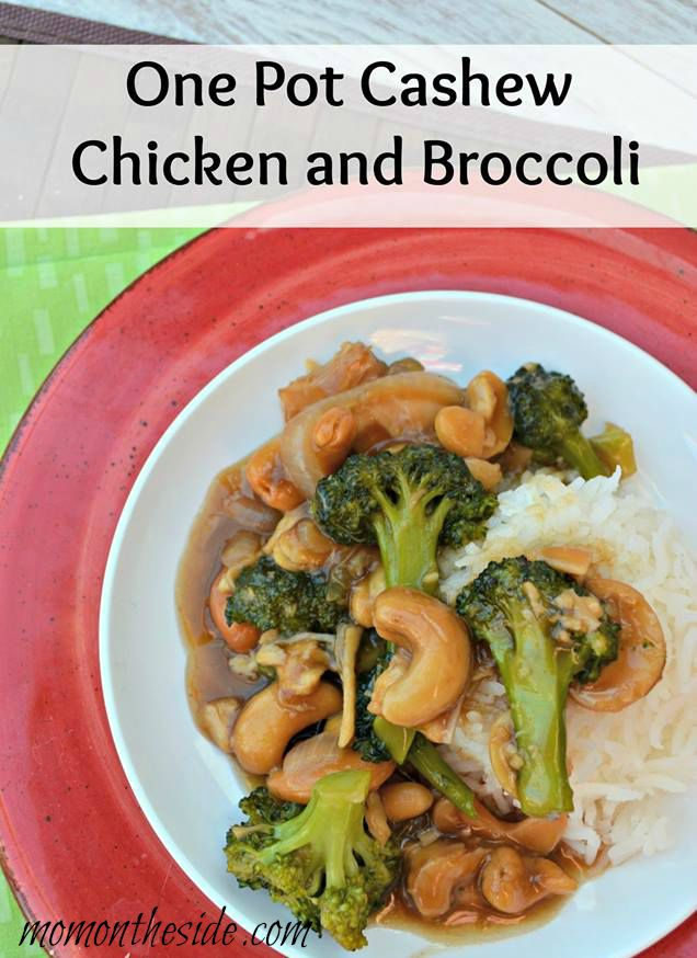 One Pot Cashew Chicken and Broccoli