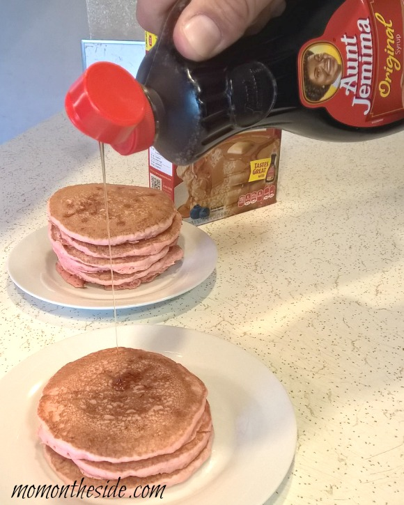 Red Hot Cinnamon Pancakes with Whipped Cream