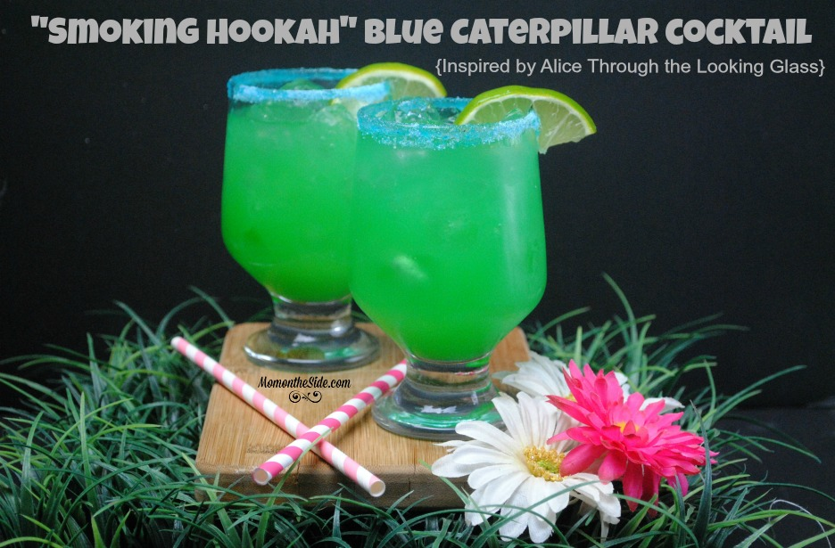 """Smoking Hookah"" Blue Caterpillar Cocktail (Inspired by Alice Through the Looking Glass)"