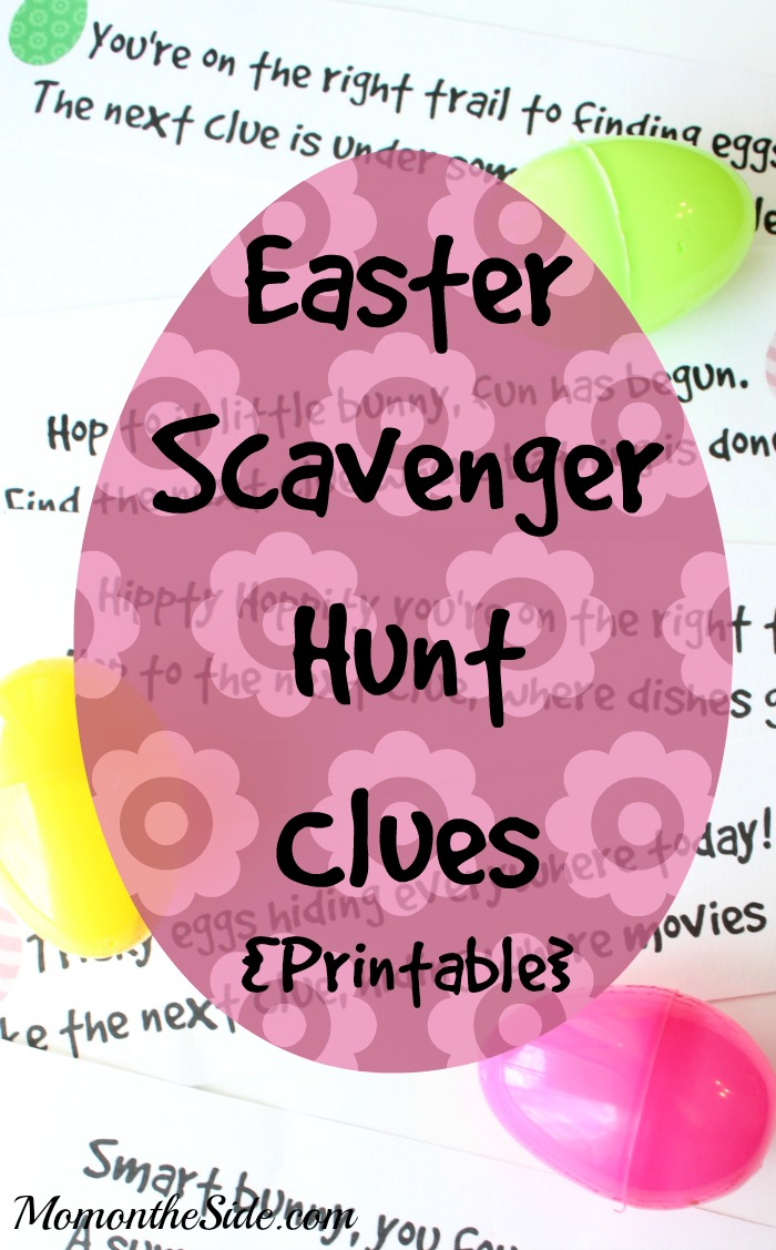 Printable Easter Scavenger Hunt Clues to plan an easy holiday kids activity!