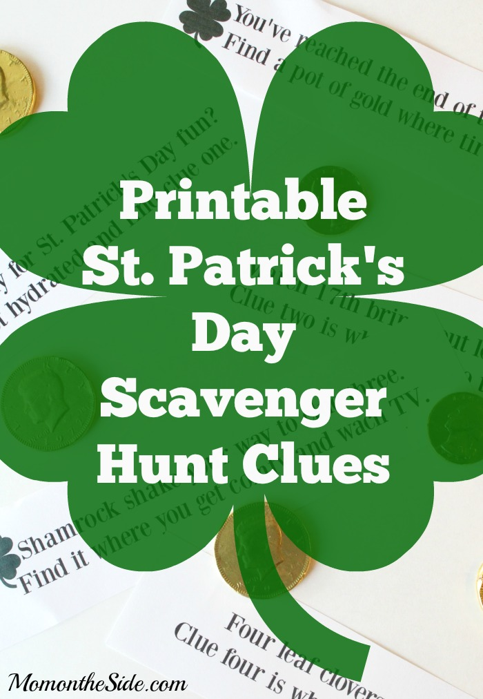 Printable St. Patrick's Day Scavenger Hunt Clues
