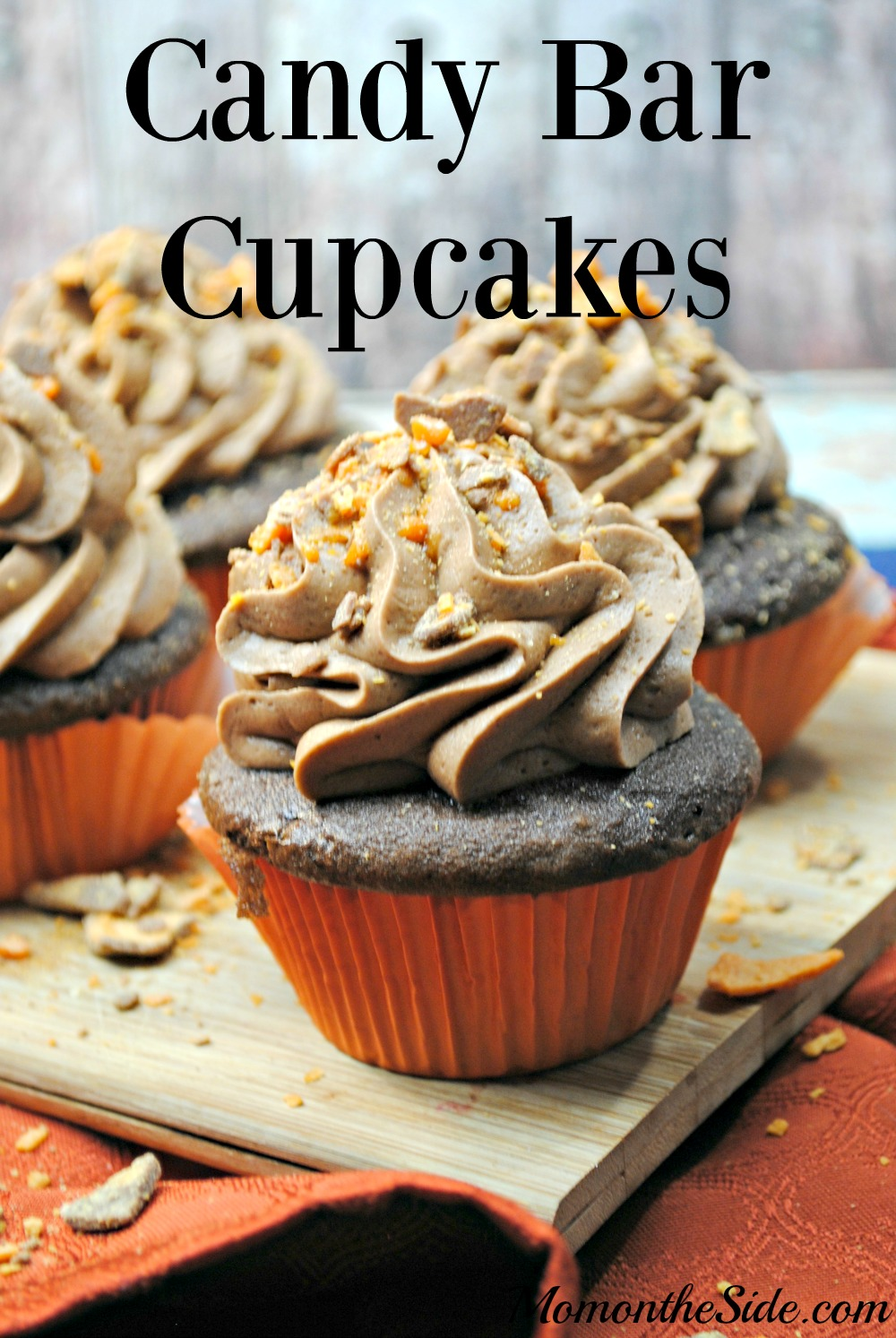 The Best Candy Bar Cupcakes Recipe for parties, baking with kids, and when you are craving chocolate!