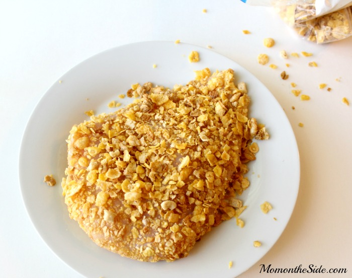 Crunch O Chicken Dinner Recipe made with Honey Bunches of Oats Honey Crunch O's