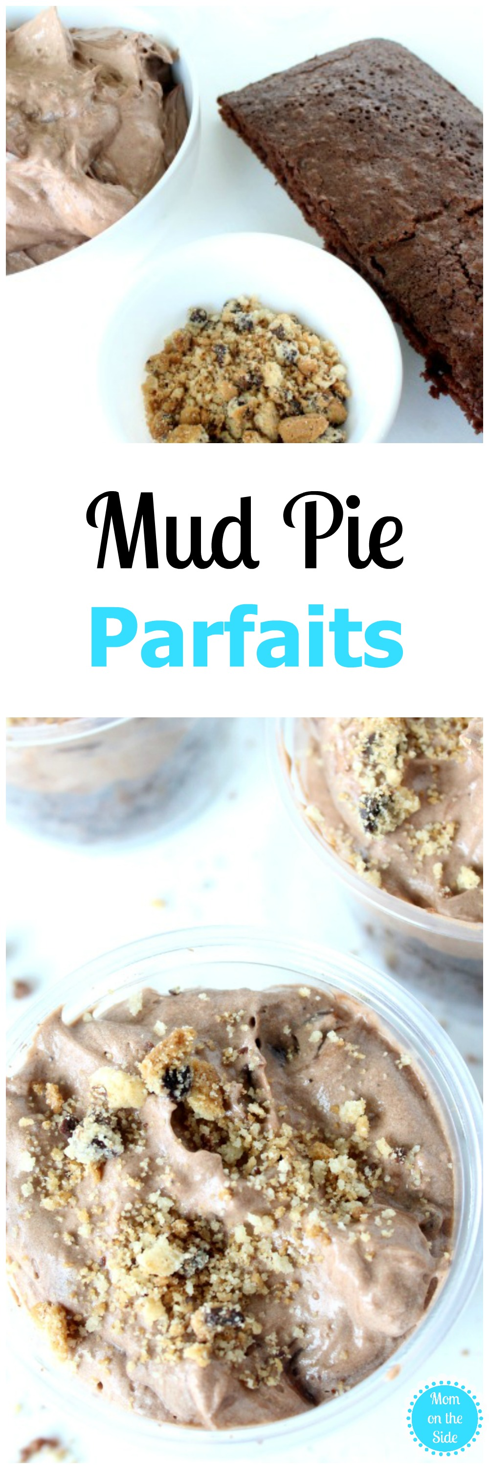Add making Mud Pies and Mud Pie Parfaits to your Spring must do list! Grab the recipe on Mom on the Side today and a secret weapon to avoid mess stress!
