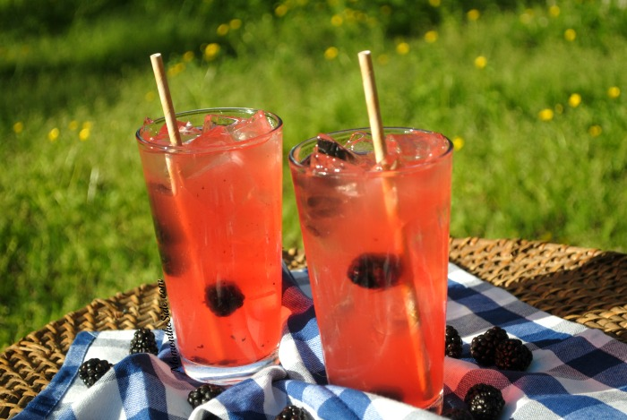 Blackberry Bourbon Lemonade is a refreshing Summer Cocktail for adults!