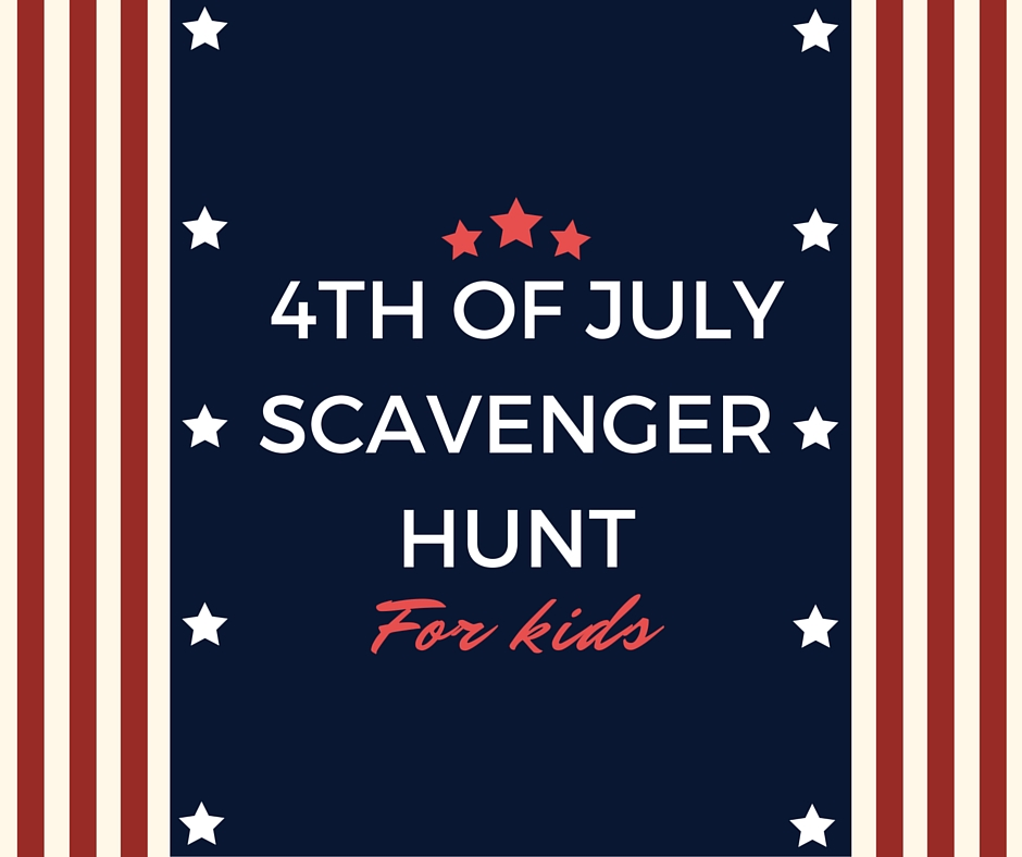 July Scavenger Hunt for Kids