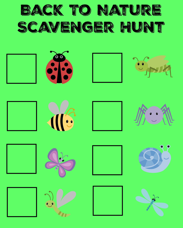 back to nature bug scavenger hunt and bug find it jars
