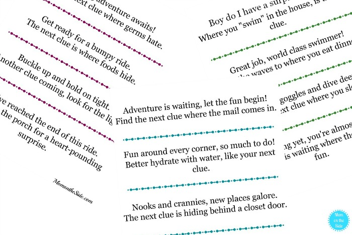 Free Printable Vacation Reveal Scavenger Hunts