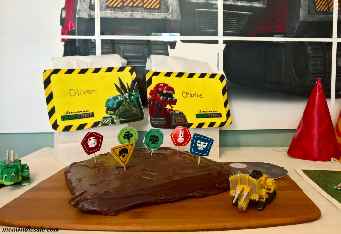 Dinotrux Birthday Party and Dinotrux Cake