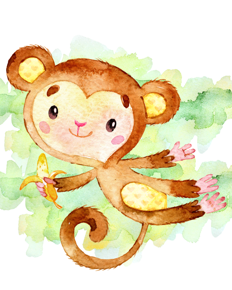 Pleasing Set Of Monkey Printables For Nursery Rooms Free Interior Design Ideas Lukepblogthenellocom