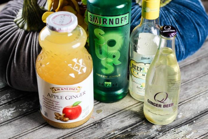 Sour Ginger Apple Cocktail