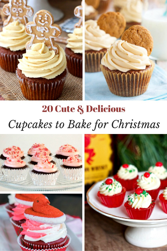 20 Cute and Delicious Holiday Cupcakes to Bake for Christmas! Great holiday recipes to add to the holiday baking list.