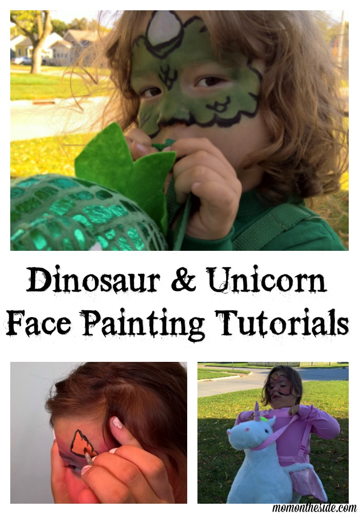 Express yourself creatively in Halloween Costumes with face painting! Check out these Dinosaur and Unicorn Face Painting Tutorials for Kids
