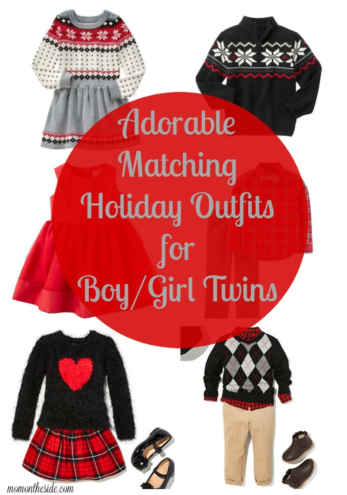 - Adorable Matching Holiday Outfits For Boy/Girl Twins