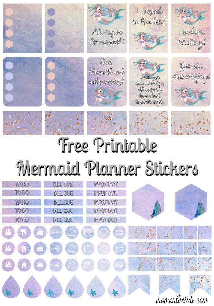 picture relating to Free Planner Sticker Printables identify Absolutely free Mermaid Printable Planner Stickers toward Continue to keep Everyday living
