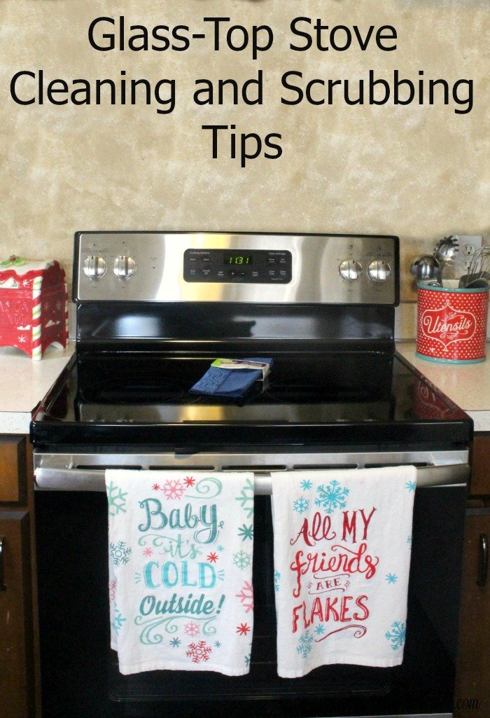 how to clean a glass top cook stove