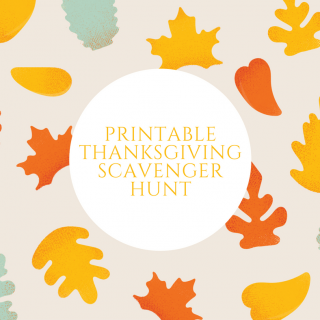 Printable Thanksgiving Scavenger Hunt for Kids