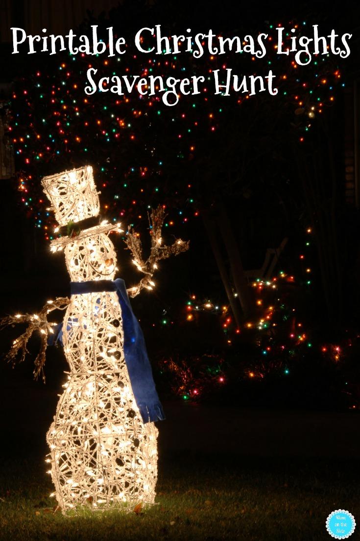 Fun Printable Christmas Lights Scavenger Hunt for Kids