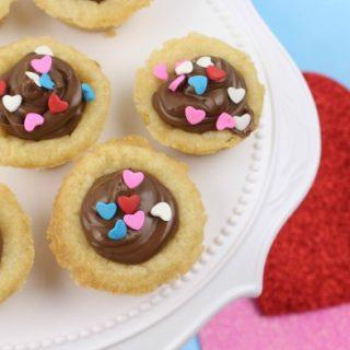 Nutella Sugar Cookie Cups for Valentine's Day Dessert