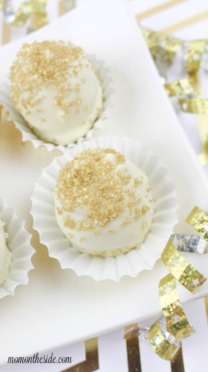 White Chocolate Glitter Golden Oreo Truffles