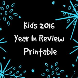 Kids 2016 Year In Review Printable