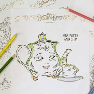 10 Elegant Beauty and the Beast Coloring Pages