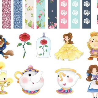 Printable Beauty and the Beast Planner Stickers