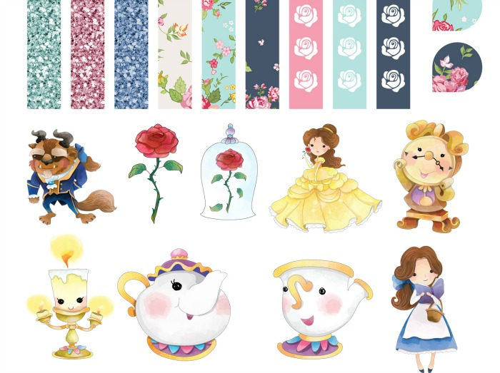 Printable Beauty and the Beast Planner Stickers | Mom on ...