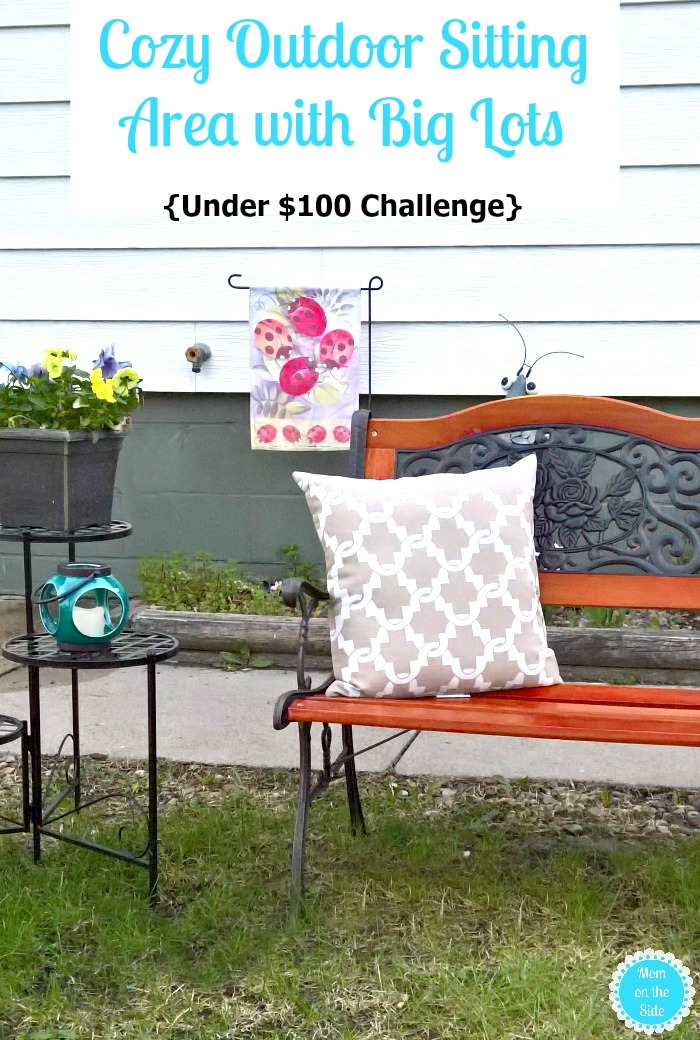 Cozy Outdoor Sitting Area with Big Lots - Under $100 Challenge