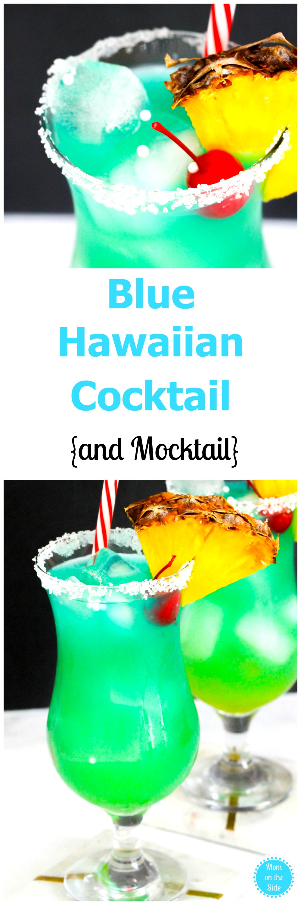 If you want a cocktail that makes you feel like you are on the beach, this Blue Hawaiian Cocktail is it! Plus, I've got a mocktail version as well!