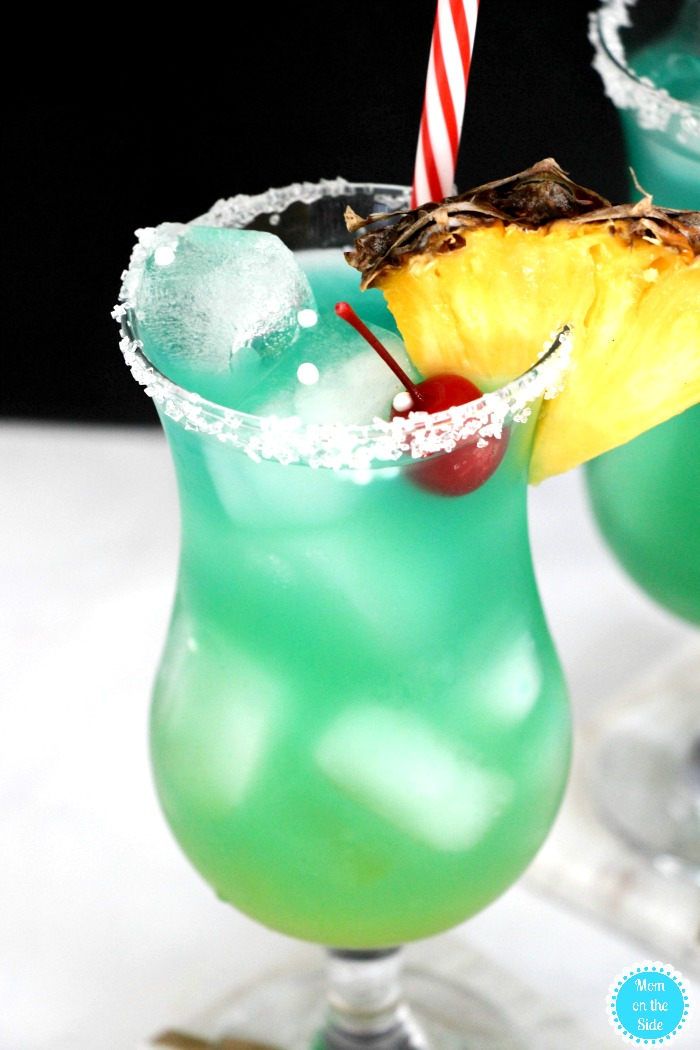 Blue Hawaiian Cocktail (and Mocktail)