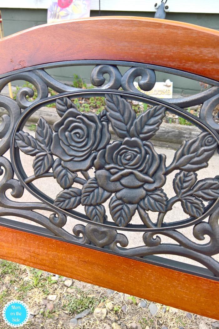 garden bench for outdoor sitting areas
