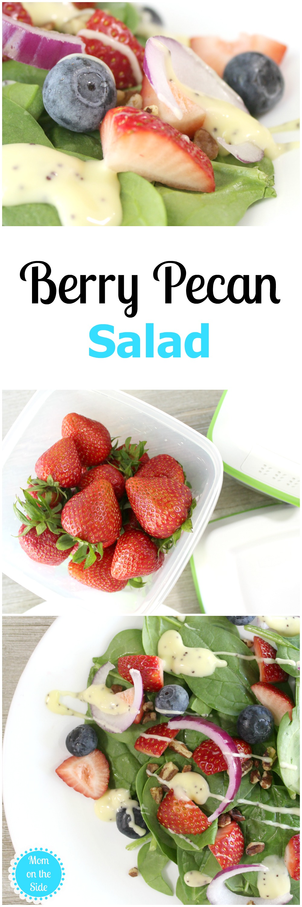 Enjoy Berry Pecan Salad Recipe all week long when you store produce in Rubbermaid FreshWorks Produce Saver! Get the recipe and check out the containers!