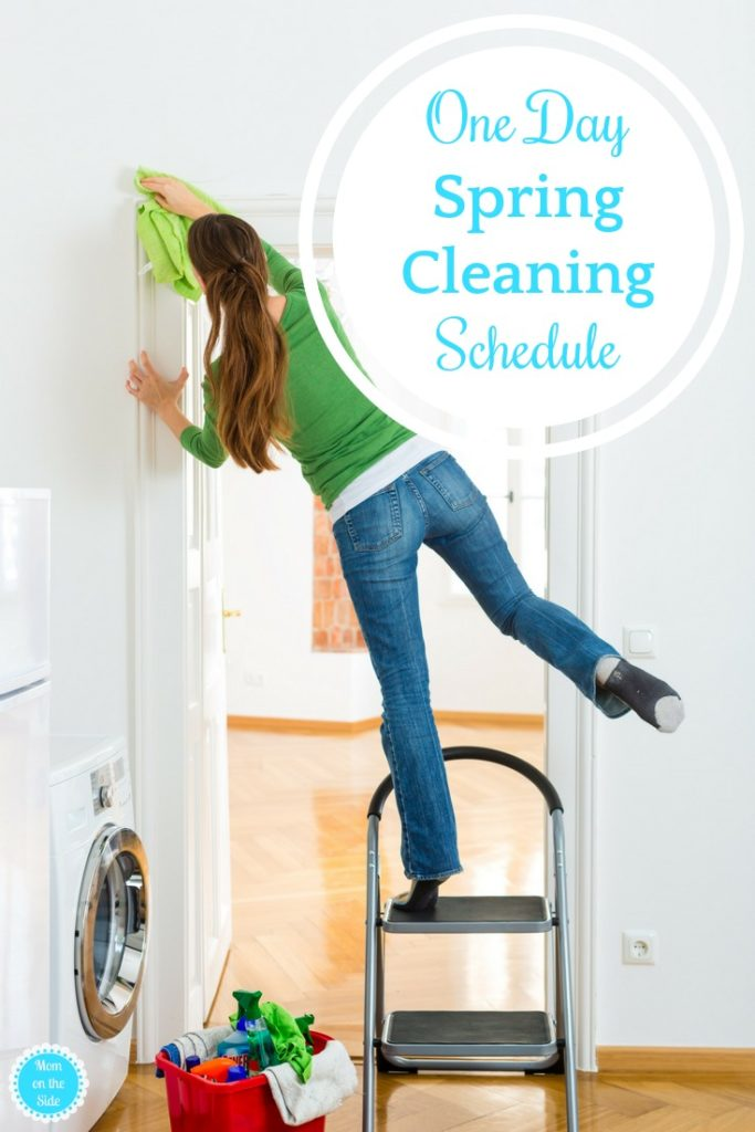 Tackle Cleaning with this one day spring cleaning schedule!