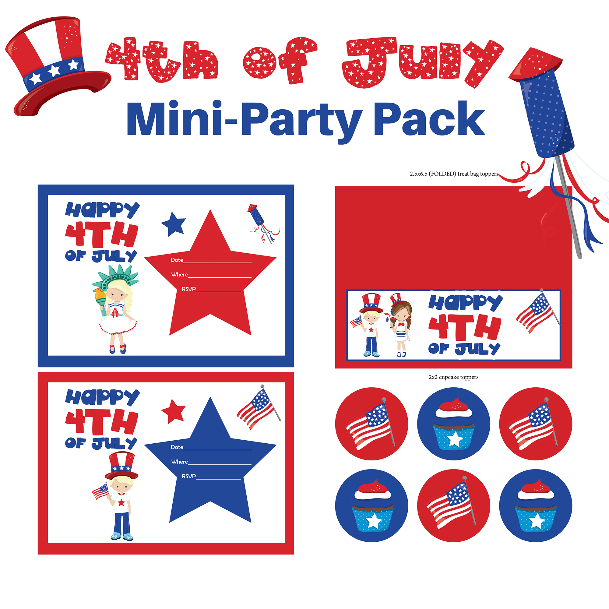 4th of July Party Printables Pack