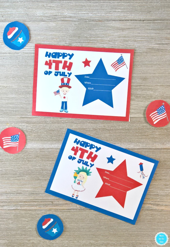 Printable 4th of July Invitations