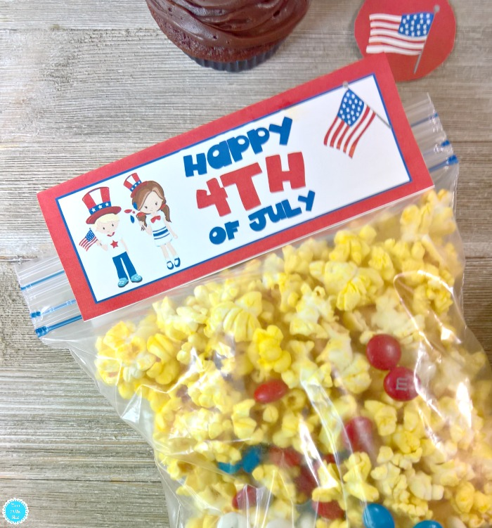 4th of July Snack Bag Toppers