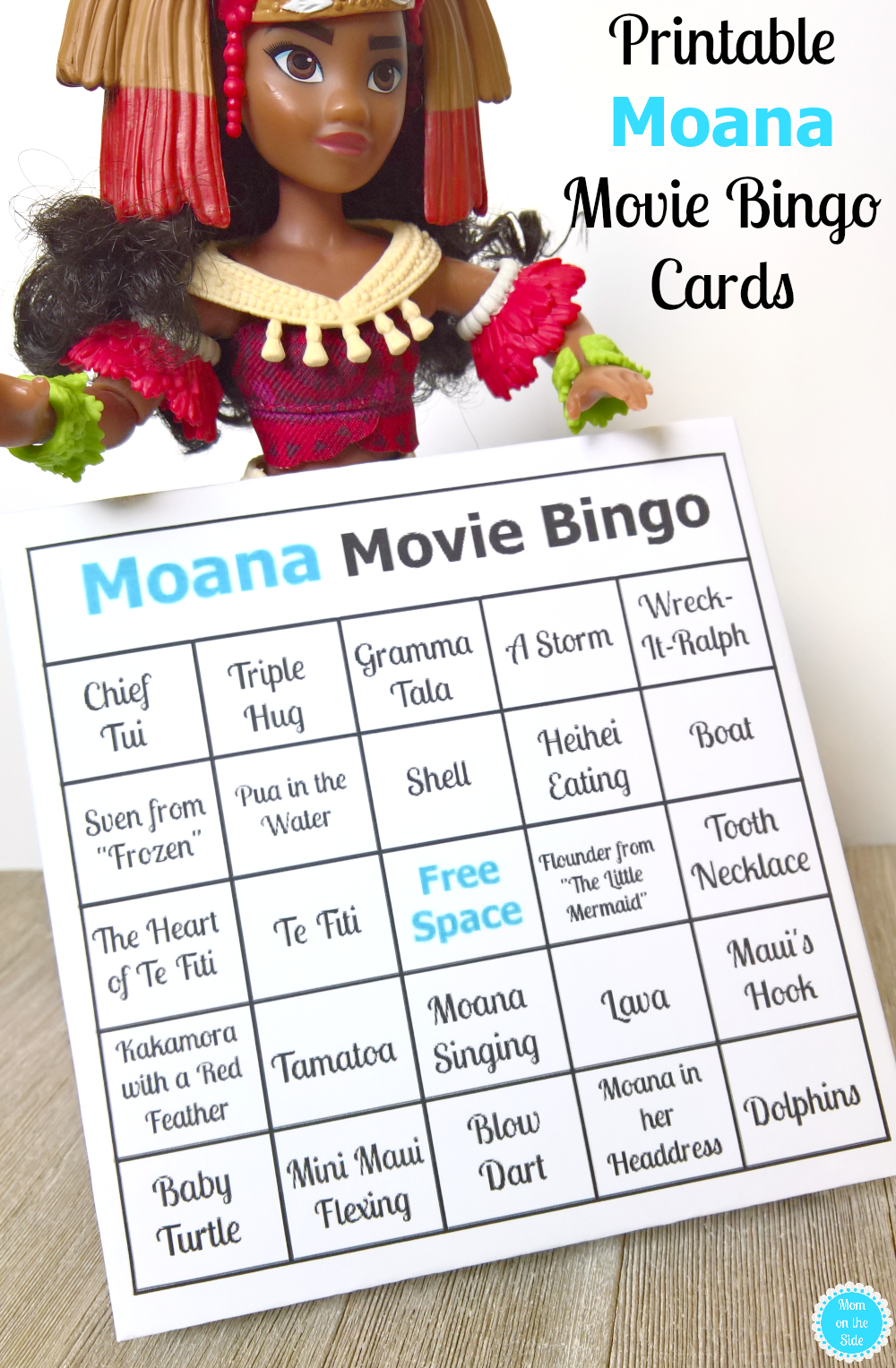 Printable Moana Movie Bingo Cards