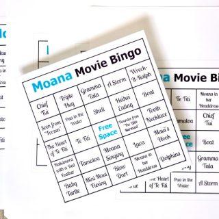 Moana Movie Bingo Cards