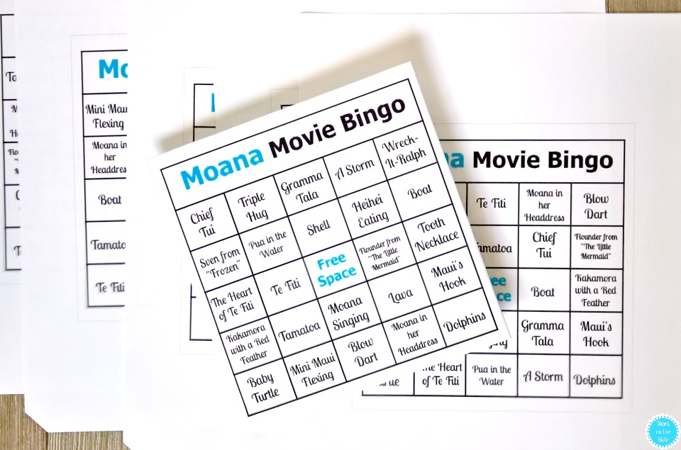 Moana Movie Bingo Cards