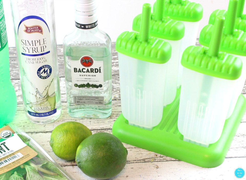 Ingredients for Mojito Pops