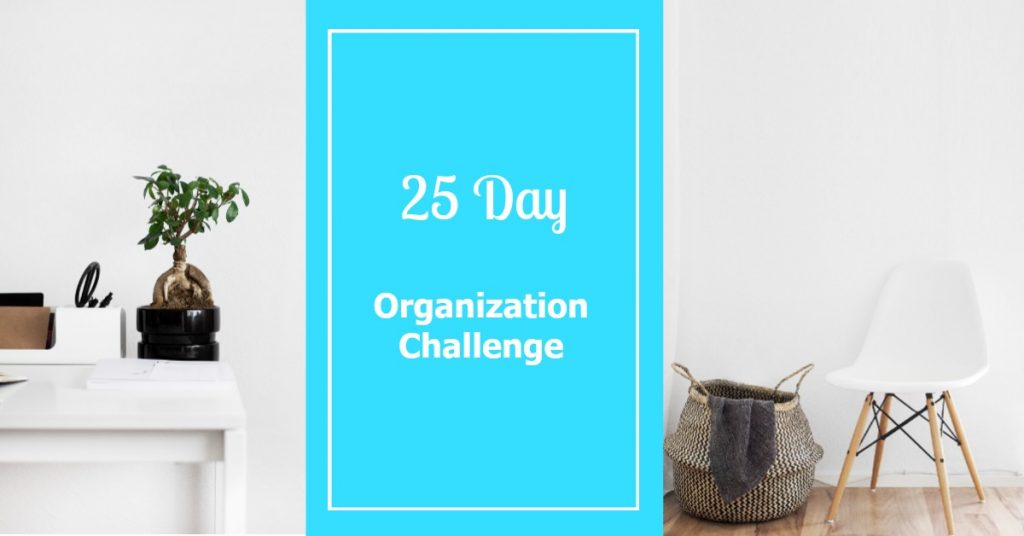 Organization Challenge for Home
