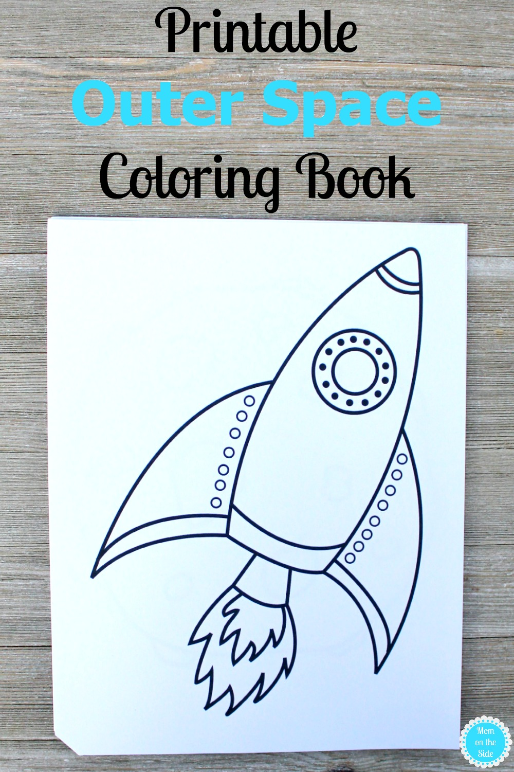 Do your kids love to color? This free printable Outer Space Coloring Book has 10 coloring pages with big pictures for little kids to enjoy coloring.