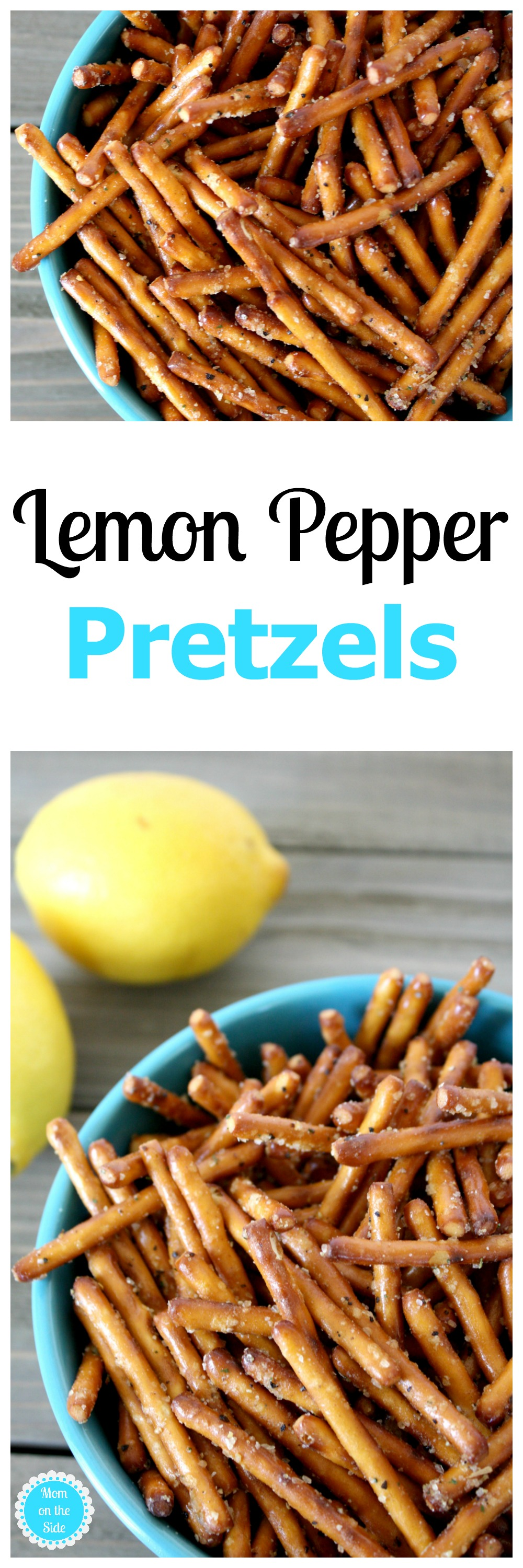 Lemon Pepper Pretzels for Parties